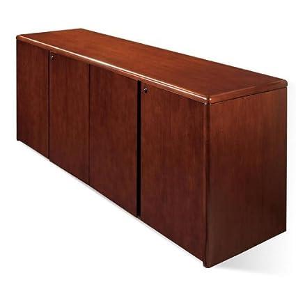Sonoma 4 Door Storage Credenza 72X20, Dark Cherry Wood