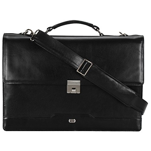 Buffalo Leather Briefcase (Lawyer's briefcase (black). Full grain, Buffalo Leather. Brass hardware, waterproof lining.)