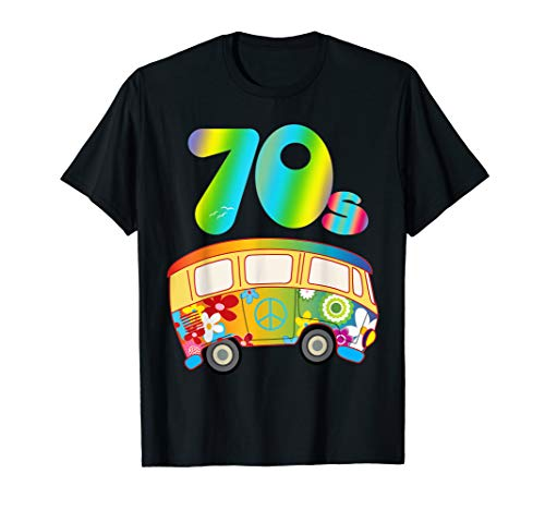 Mens FUNKY: 70s Hippie Bus TShirt Party Outfit Gift Idea Tee