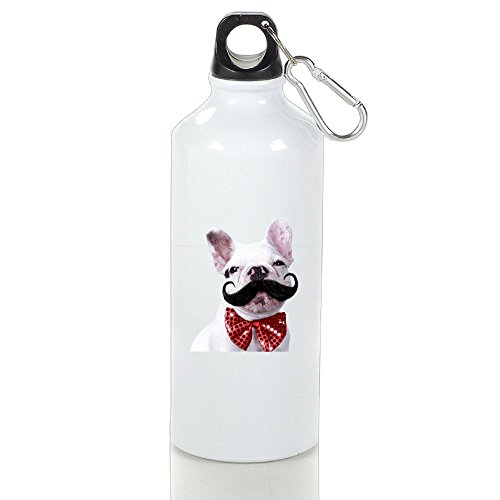 Xihuan French Bull Dog Puppy With Mustache Aluminum Outdoor Sports Bottle Perfect For Golf Sport Bottle White - Outlets Ga 400