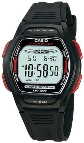 Casio Women's LW201-4AV Black Resin Quartz Watch with Digital Dial
