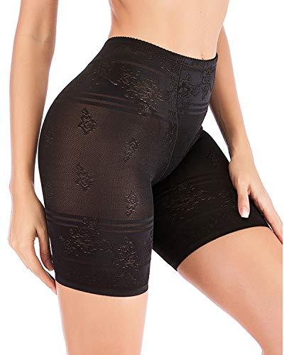 AIMILIA Thigh Slimmer Shapewear Body Shaper for Women Anti-Chafing Slip Shorts Tummy Control Butt Lifter Panties Black