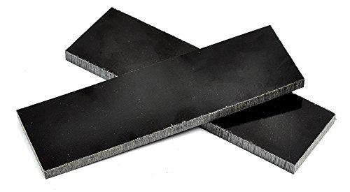 "Black Linen Micarta Knife Handle Scales -- 5"" X 1-1/2"" X 1/4"" (Set of 2)"