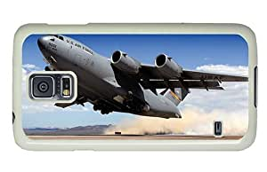 Hipster brand new Samsung Galaxy S5 Case airforce c 17 globemaster PC White for Samsung S5