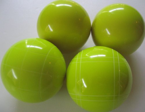 Premium Quality EPCO 4 Ball Set with yellow bocce balls [Misc.] by Epco