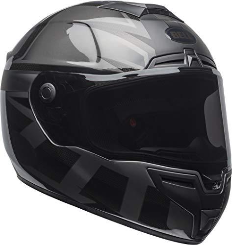 Bell SRT Street Motorcycle Helmet (Matte/Gloss Blackout, Medium) (Bell Motor Cycle Helmet)