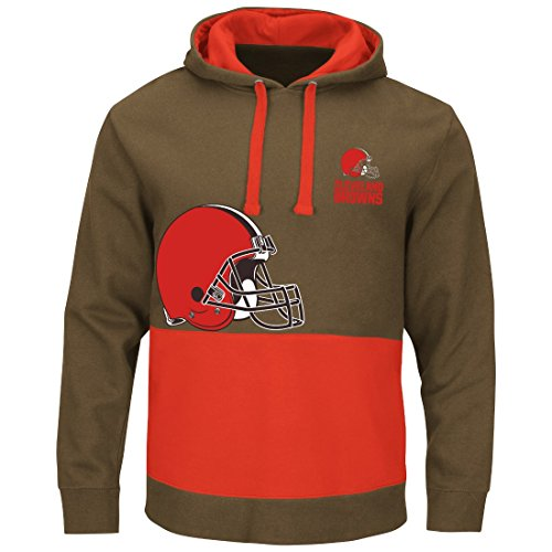 Cleveland Browns Coin Toss Pullover Hooded Sweatshirt Large