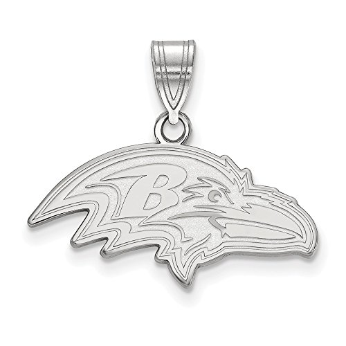 (NFL Sterling Silver Baltimore Ravens Medium Pendant)