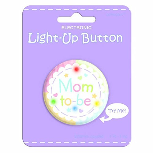 amscan Mom to-be Light-Up Button Novelty Favor | Baby Shower