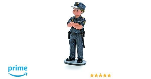 Nadal Figura Decorativa policía reducción, Resina, Multicolor, 8.00x5.50x15.50 cm