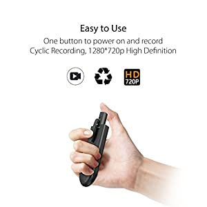 Hidden Spy Pen Camera, Conbrov TD88 720P HD Portable Mini Body Camera Video Recorder with Loop Recording, SD Card Not Included