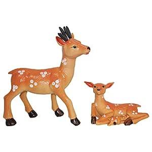 Spring Rose Deer Statues for Garden Decor