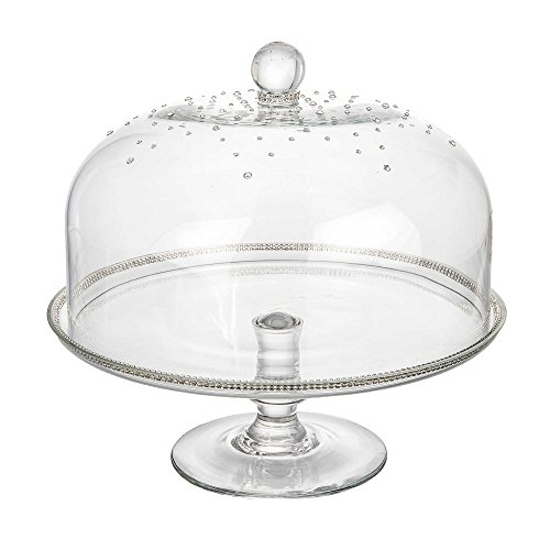 Elegant Masterpiece Cake stand, Footed Cake Plate with Swarovski Crystals Dome Cover, Makes A Great Wedding Gift