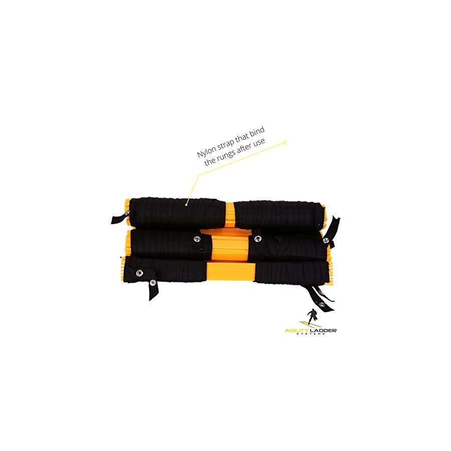 Agility Ladder For Speed Training and Explosive Training Soccer Training, Football Training Adjustable 12 Rung 6 Meter Agility Training Equipment BONUS Carry Bag Agility Ladder Training