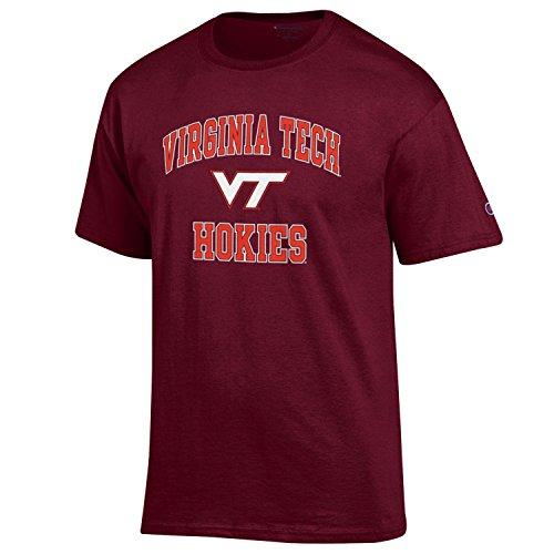 (Champion NCAA Men's Shirt Short Sleeve Officially Licensed Team Color Tee, Virginia Tech Hokies, XX-Large)