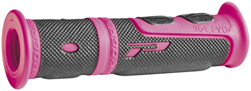 Pro Grip Motorcycle (Pro Grip 964 EVO Grips - Black/Pink, Color: Pink 964EVOPKBK)