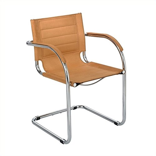 Scranton & Co Guest Chair Camel Micro Fiber in Camel