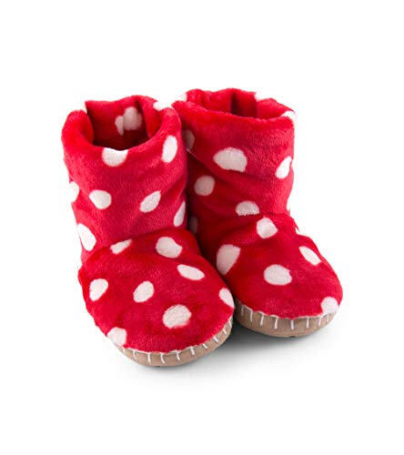 Childrens Christmas Slippers - Hatley Girls' Toddler Fuzzy Fleece Slouch