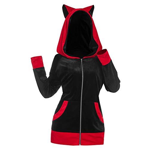 Hoodies for Women Winter Coats Loose Oversized Sweatshirts Cat Ear Pullover Ladies Plush Jacket Fashion T Shirts