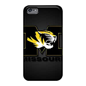 Customcases88 Apple Iphone 6s Shockproof Phone Cover Allow Personal Design Trendy Missouri Tigers Series [ept19svWt]
