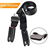 Jolik Baby Car Seat Strap Connector for Latch or Isofix, Car Booster Seat Strap with Strong Tooth, 8 Times Sewing Car Seat Safety Strap