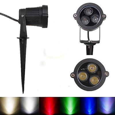 6W LED Flood Spotlightt With Rod For Landscape Garden IP65 DC 12-24V (Color Green)