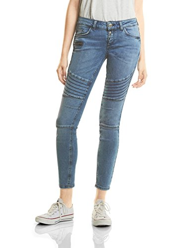 Street One Vaqueros Slim para Mujer Azul (Authentic Blue Stone Washed 11076)