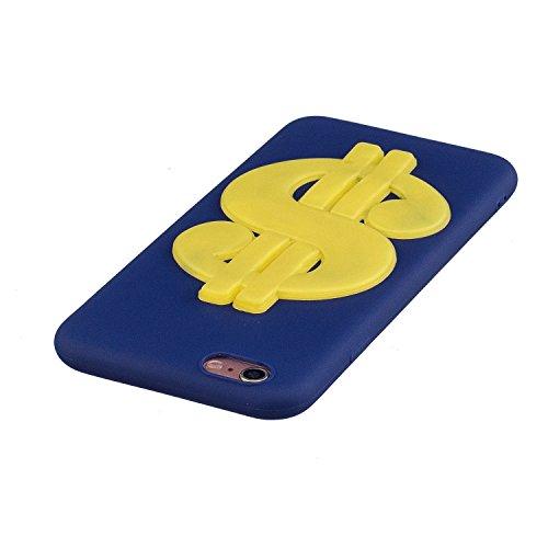 iPhone 6 / 6S Plus Hülle , Leiai 3D Geld Leicht TPU Weich Tasche Schutzhülle Silikon Etui Handyhülle Stoßdämpfende Schale Fall Case Shell für Apple iPhone 6 / 6S Plus