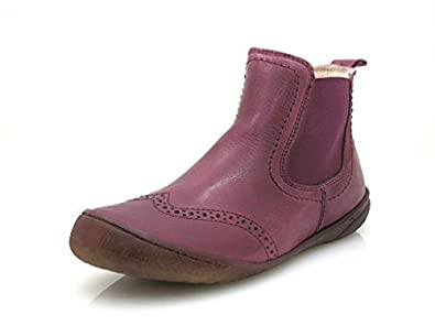 Ma-Ra Botte d'hiver Chelseaboot Chelsea Bottine en cuir Bottines Laine -  Violet