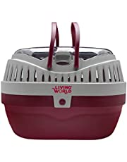 Living World 60888 Pet Carrier, Red/Grey, Large