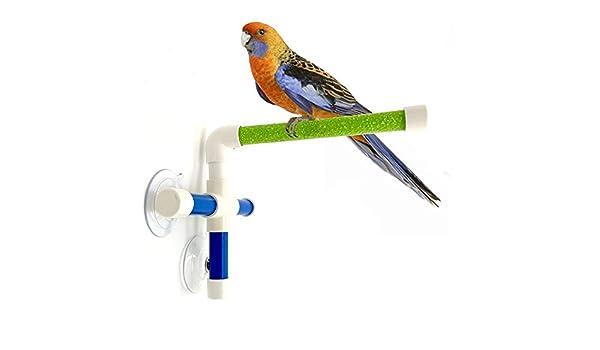 Percha de ducha para pájaros, perchas de baño, plataforma de pie ...