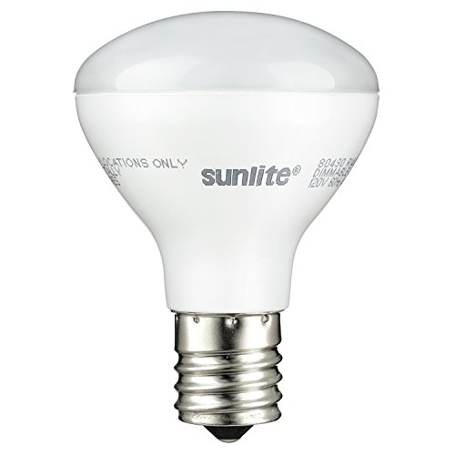 Sunlite R14/LED/N/E17/4W/D/27K LED R14 Reflector Floodlight 4W (25W Equivalent) Light Bulbs, Intermediate (E17) Base, 2700K, Warm White ()