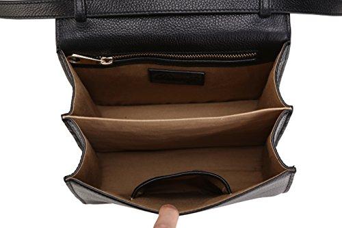 Prnicely, Borsa a mano donna nero 21 cm x 19 cm x11 cm