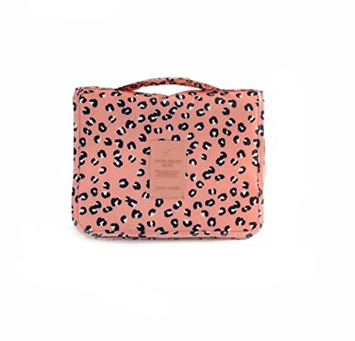Bluestercool Pocket-Trip Hanging Toiletry Kit Klare Cosmetic Bag Carry Case (Rosa)