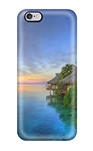 Hot Sunset Over Moorea First Grade Tpu Phone Case For Iphone 6 Plus Case Cover