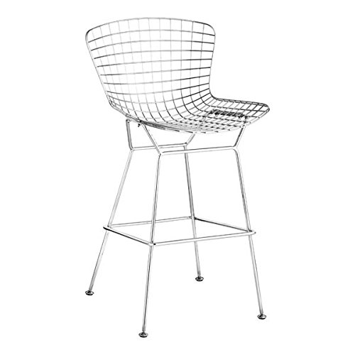 Amazon Com Zuo 188015 Wire Bar Chair Chrome Kitchen