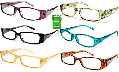 Wholesale Lot of 12 Unisex Cheetah Readers Reading Glasses +2.75 Power from DINY Cheetah Readers