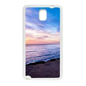 Bright Blue Sky And Sun Scene White Phone Case for Samsung Galaxy Note3