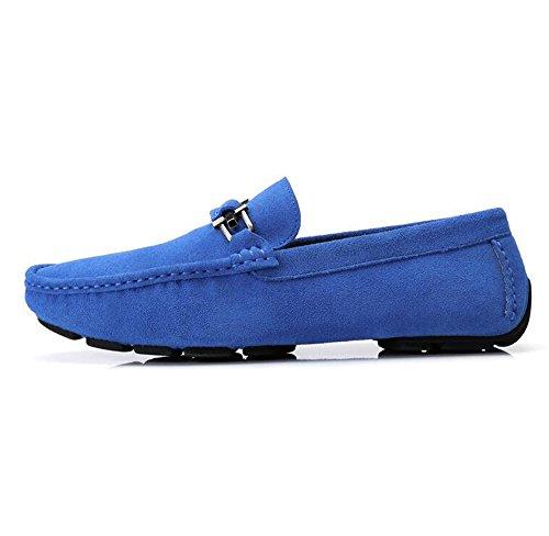 Chameau Hommes Mocassin-gommino Pantoufle De Conduite Mocassin Décontractés Mocassins Bateau Chaussures Bleu