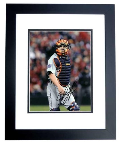 Ivan Rodriguez Signed Photo - 8x10 BLACK CUSTOM FRAME - PSA/DNA Certified - Autographed MLB (Ivan Rodriguez Autographed Photo)