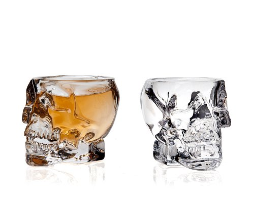 Klikel 239-2a Skull Shot Glass (Set of 2), Transparent