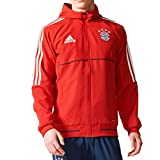 adidas Men's FC Bayern Munich Presentation Jackets (L, FCB True Red/White)