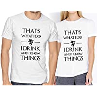 Playeras Elite Got Game Of Thrones I Drink And I Know Things Novios Parejas #526