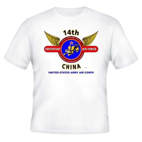 14TH ARMY AIR FORCE* U.S.ARMY AIR CORPS* FLYING TIGERS*CHINA* WINGS SHIRT (M, GRAY)