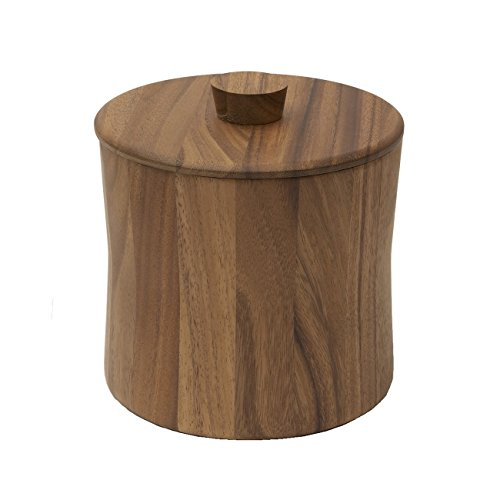 Woodard & Charles Acacia Wood Ice Bucket, 7'' by Woodard & Charles (Image #1)