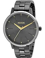 Nixon Womens Kensington Quartz Stainless Steel Casual Watch, Color:Grey (Model: A0992765)