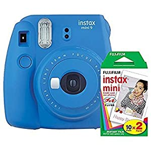 Fujifilm Instax Mini 9 Instant Camera with Mini Film Twin Pack (Arcadia Green)