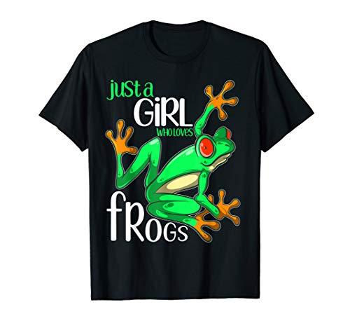 (Just a Girl Who Loves Frogs Gift T Shirt for Women and Girls)