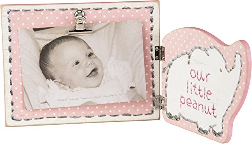 Primitives by Kathy Hinged Photo Frame, 12.38 x 6-Inch, Pink - Our Little - Ribbon Cathy Pink