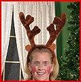 "Plush 14"" Big Reindeer Antlers Christmas Costume Accessory"